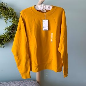 NEW! Retro Yellow Crew Neck Sweater Pullover